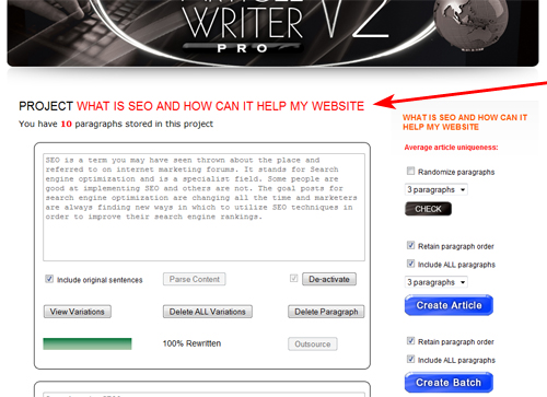Article Writer Pro v2.0 project