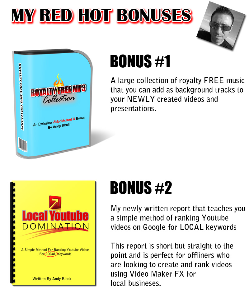 Video Maker FX Bonuses
